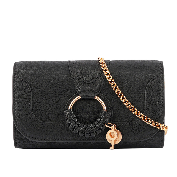 【SEE BY CHLOE】HANA皮夾式鏈袋斜背包(黑色) CHS20SP912305 001