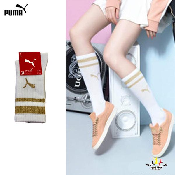 Puma 白色 襪子 長襪 女款 運動長襪 棉質 23-25cm 白色襪子 BB112401