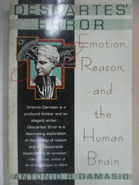 【書寶二手書T1/科學_BY5】Descartes Error: Emotion, Reason, and the Human Brain