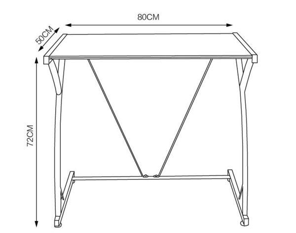 80cm電腦桌台式家用學習桌子簡約現代書桌鋼化玻璃辦公桌