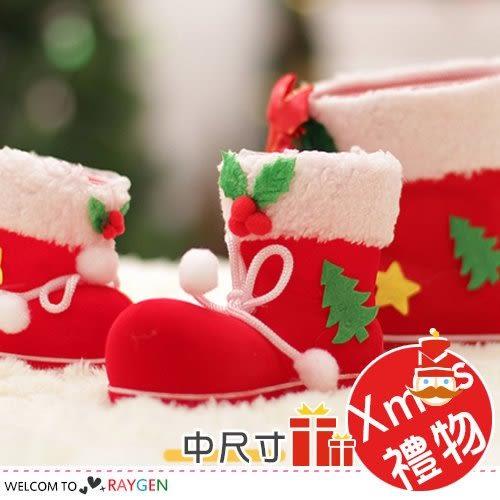 XMAS裝飾聖誕掛飾糖果靴 禮物袋 中尺寸
