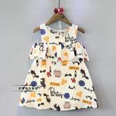 雙12鉅惠 韓版童裝女童夏裝新款童趣涂鴉卡通背心裙連身裙寶寶夏裝裙子 東京衣櫃