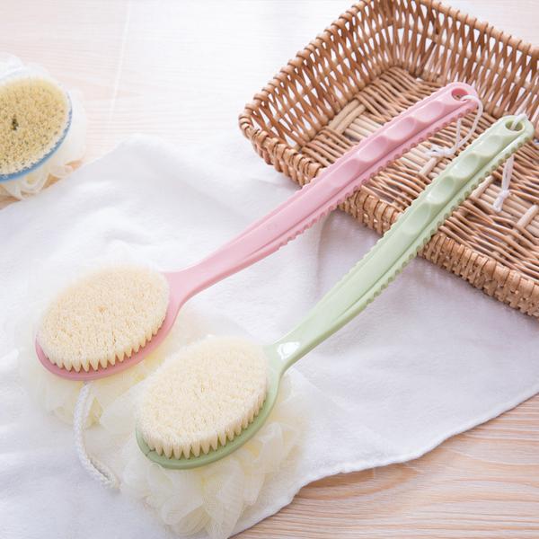 洗澡刷 沐浴球 搓澡神器 沐浴刷 軟毛刷 洗澡 刷子 二合一搓背刷 按摩  日式【N089】米菈生活館