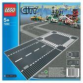 樂高積木LEGO 城市系列 7280 直線道&十字路口(底板一包兩片)