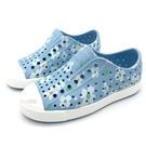 《7+1童鞋》小童 Native JEFFERSON print 滿版小花 防水 懶人洞洞鞋 涼鞋 6065 水色