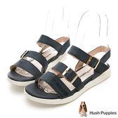 Hush Puppies Shearwater 皮質涼鞋-深藍