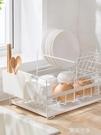 北歐時尚雙層碗碟瀝水架 廚房置物架 晾放餐具碗筷勺盤子收納架MBS『潮流世家』