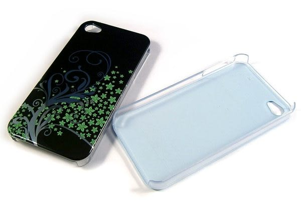 Apple iPhone 4/iPhone 4S 圖騰殼/保護背蓋 FLR01