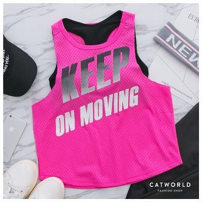 Catworld KEEP漸層色快乾運動背心【11601760】‧S/M/L/XL