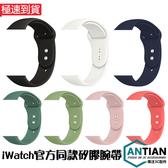 兩件套 Apple Watch 5 4 3 2 1 腕帶 替換帶 矽膠錶帶 iwatch 38/42/40/44mm 運動 手錶帶