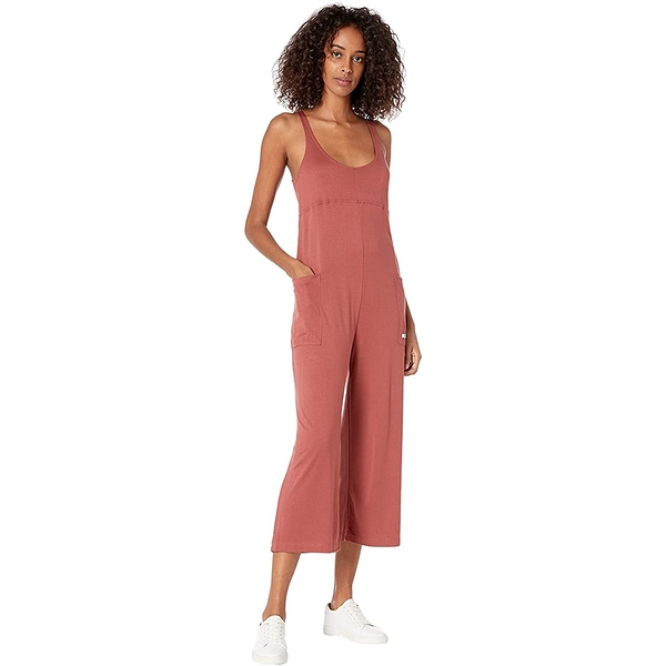 HURLEY|女 W RIB JUMPSUIT連身褲