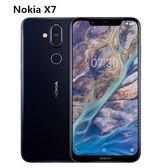 Nokia拆封新品 諾基亞 X7 6G/64G雙卡雙待 6.18吋 蔡司認證 AI智能美拍(保固一年 完整盒裝)