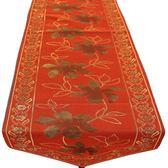 ~巴芙洛~歐風精緻桌旗32x180cm 紅色