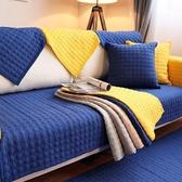 九只貓四季純棉沙發墊純色北歐沙發墊現代防滑全棉布藝沙發坐墊子