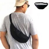 全館83折 胸包 男腰包胸前單肩手機純色斜挎包多功能實用耐磨防水女騎行休閑背包