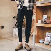 中大尺碼 夏季薄款牛仔褲男士2018新款韓版潮流修身彈力九分小腳 KB1209【每日三C】