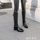 長筒雨靴 高筒雨鞋女長筒韓國時尚可愛外穿防滑雨靴防水膠鞋套鞋過膝靴子潮 夢藝