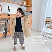 男童外套 兒童風衣秋裝中小男童洋氣中長款上衣寶寶休閒百搭外套潮-Milano米蘭