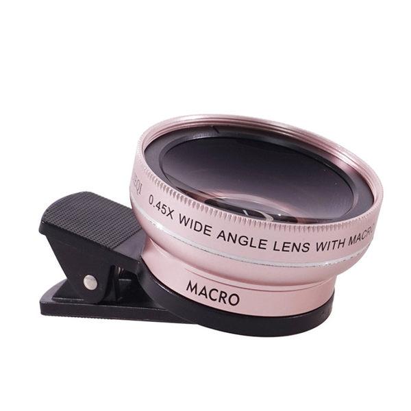 LIEQI 廣角鏡頭 無暗角 0.45X廣角 微距 自拍神器 手機 夾式 鏡頭 直播 LQ027