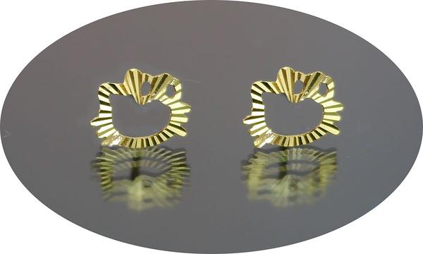 gold 黃金 耳環 金飾 保證卡 重量0.28錢 [ ge 044 ]