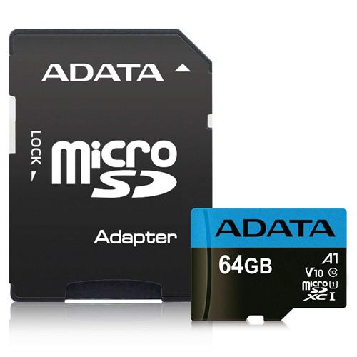 ADATA 威剛 64GB Premier microSDXC UHS-I Class 10 (A1) 記憶卡