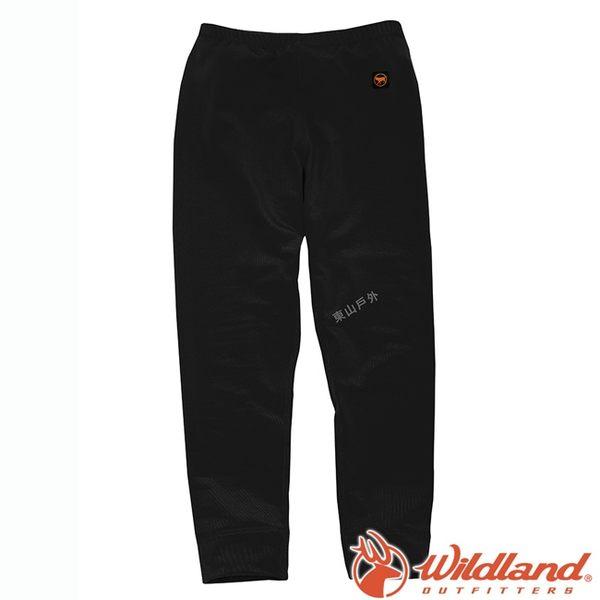 Wildland 荒野 W2681-54黑 童 遠紅外線彈性保暖褲 遠紅外線/兒童/透氣/彈性/保暖褲