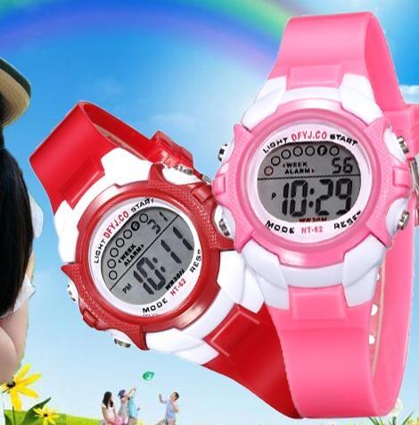 兒童手錶 女孩男孩防水夜光小學生手錶女童運動電子錶時尚韓版手錶【快速出貨八折下殺】