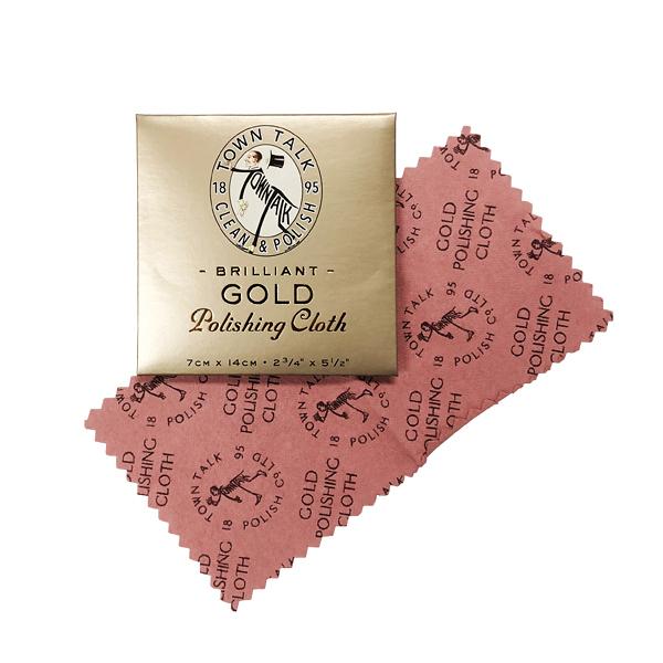 英國百年 Town Talk 金飾專用清潔巾 拭金布 (XS) 迷你款