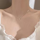 925 純銀閃鉆項鍊簡約 感氣質女潮鎖骨鍊輕奢~匯美優品~