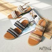 涼鞋 民族風雙版織面涼鞋 MA女鞋 T8005