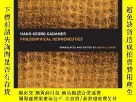 二手書博民逛書店Philosophical罕見HermeneuticsY256260 Hans-georg Gadamer U