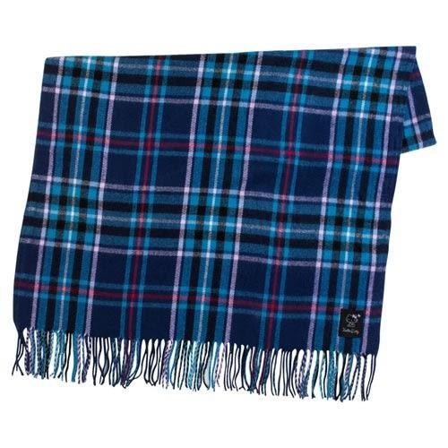 Sanrio HELLO KITTY大面積兩用保暖披巾(藍格紋)★funbox★_758698