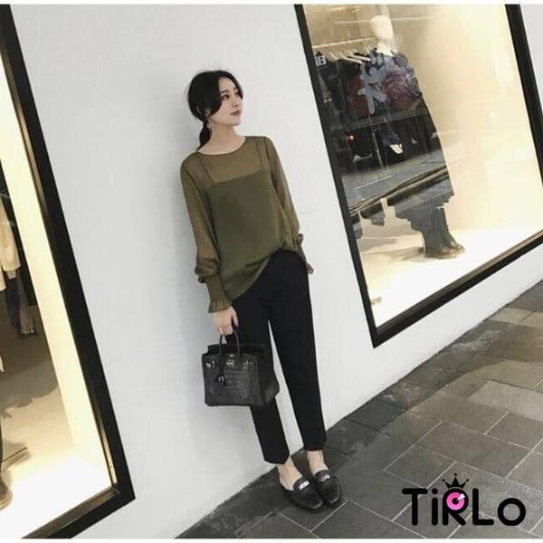 休閒褲-Tirlo-修身小腳西裝感九分褲-M-2XL(現+追加預計5-7工作天出貨)