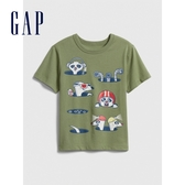 Gap男幼創意字母圓領短袖T恤577622-麝香草綠