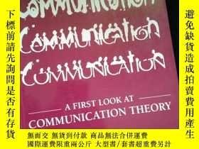 二手書博民逛書店A罕見FIRST LOOK AT COMMUNICATION THEORYY16149