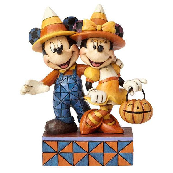《Enesco精品雕塑》迪士尼米奇米妮萬聖節裝扮塑像-Countdwon To Candy(Disney Traditions) EN92112