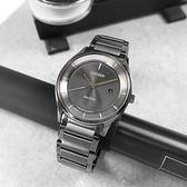 CITIZEN 星辰表 / BM7407-81H / 光動能 簡約時尚 日期 礦石強化玻璃 不鏽鋼手錶 鍍深灰 40mm