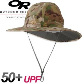 【Outdoor Research 美國 SOMBRIOLET SUN HAT CAMO抗UV透氣中盤帽〈迷彩〉】243443/遮陽帽/防曬帽