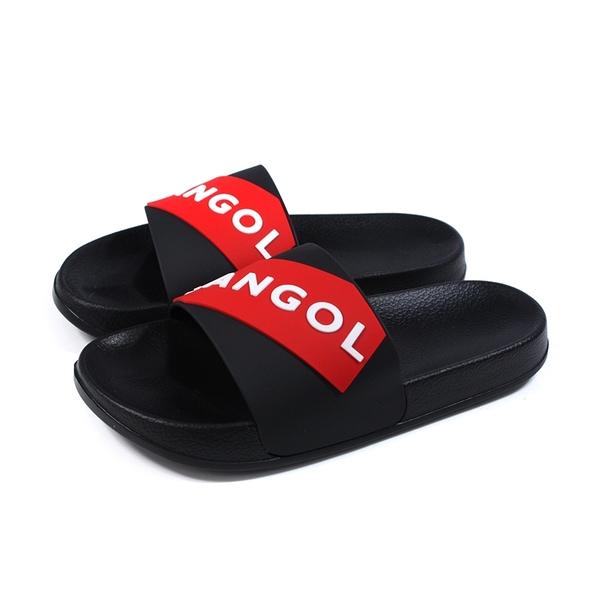 KANGOL 拖鞋 戶外 防水 男鞋 黑/紅 6025220121 no168