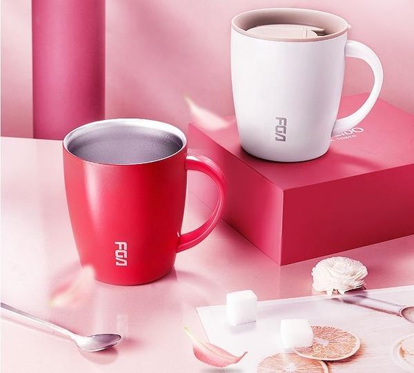304不鏽鋼馬克杯保溫水杯男女帶蓋茶杯創意咖啡辦公家用水杯 極簡雜貨