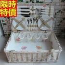 野餐籃餐具組合編織籃子-四人份戶外活動郊遊用品68e12【時尚巴黎】