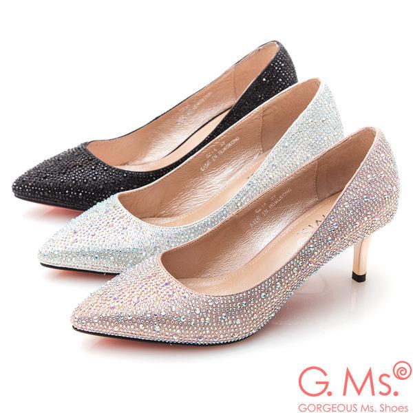 G.Ms.*  G.Ms. 花嫁系列-尖頭貼鑽新娘鞋*粉紅