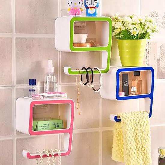 ✭米菈生活館✭【R35】創意數字9置物架 收納 香皂盒 多功能 壁貼 免安裝 居家 小物 整理 分類