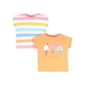 mothercare 2入繽紛粉甜短袖T-Shirt-盛夏派對(M0PH059)12M、18M