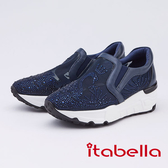 kadia.優雅天鵝湖水鑽休閒鞋(9680-55藍色)