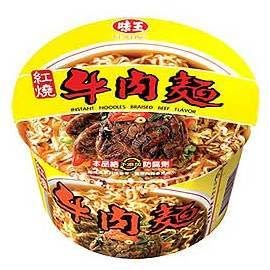 味王紅燒牛肉麵紙碗裝--3碗/組【合迷雅好物超級商城】