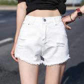 牛仔短褲女夏高腰a字寬管熱褲學生顯瘦寬鬆百搭超短褲潮 奇思妙想屋