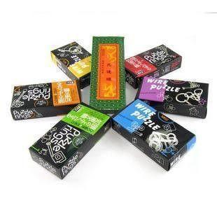 成人玩具 智力玩具成人益智玩具 六彩盒+九連環 解環 巧環