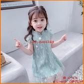 女童連身裙新款兒童旗袍洋氣小女孩蕾絲中國風公主裙子【齊心88】