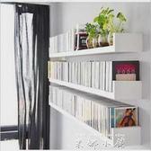 U型書架牆上置物架擱板創意隔板機頂盒架壁掛牆掛書架 單層【米娜小鋪】YTL
